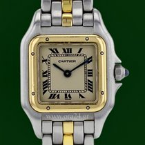 Cartier Panthere Lady 18k Yellow Gold Steel Roman Dial