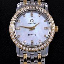 Omega De Ville Prestige 18k Yellow Gold Factory Diamond...