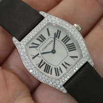 """Cartier """"privee Collection"""" Ladies Tortue 18k White..."""