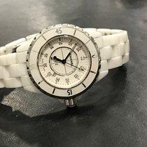 Chanel J12 céramique blanche 33mm Quartz index diamants