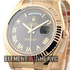 Rolex Day-Date II 18k Rose Gold Brown Roman Dial 41mm Ref. 218235