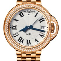 Bedat & Co No.8 Silver Dial 18k Rose Gold Automatic Ladies...