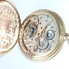 Rolex nice Movement Savonette Taschenuhr 585 Pocket Watch Gold