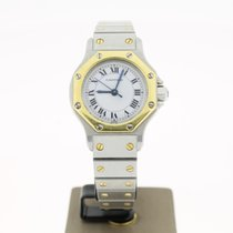 Cartier Octagon Steel/Gold 25mm White Roman Dial MINT Condition