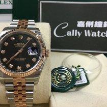 Rolex Cally - 116231 G 36mm Datejust RG & Steel Black...
