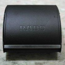 Rado vintage watch box black leather used condition