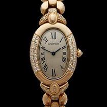 Cartier Baignoire Original Diamonds 18k Yellow Gold Ladies 935