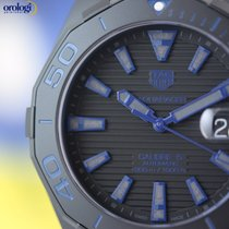 TAG Heuer Mens Aquaracer 300M Black Titanium on Blue Nylon Strap