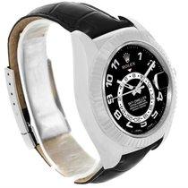 Rolex Sky-dweller 18k White Gold Black Dial Watch 326139 Box...