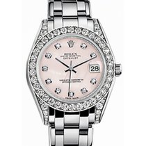 Rolex Pearlmaster 34 81159 Pink Mother of Pearl Diamond Set...