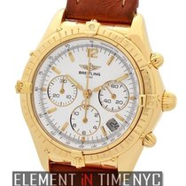 Breitling Chronomat Cockpit 18k Yellow Gold 37mm White Dial