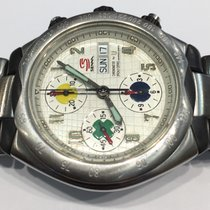 Universal Genève Chronograph Senna stainless steel and Carbon