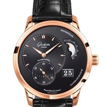 Glashütte Original PanoMaticLunar - 18 ct red gold, alligator...