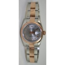 Rolex Datejust 179161 Lady's Steel and Rose Gold Oyster...