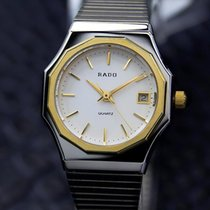 Rado Ladies Swiss Made Quartz Dress Watch With Gold Plated...
