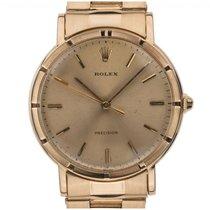 Rolex Precision 18kt Gelbgold Handaufzug Chronometer Armband...