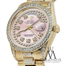 Rolex Presidential Day Date Vintage Pink Dial Diamond Watch 18...