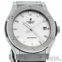 Hublot Classic Fusion Titanium Automatic Silver Dial Watch Ref...