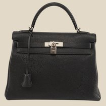 Hermès Black Togo Retourne Kelly 32