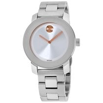 Movado Bold Silver Dial Stainless Steel Ladies Watch 3600084