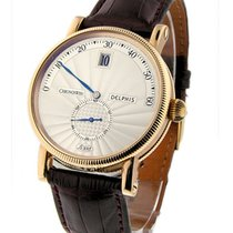Chronoswiss Delphis Jump Hour Mens 38mm Automatic in Rose Gold