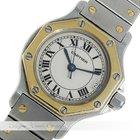 Cartier Santos Octagon Stahl / Gold Quarz