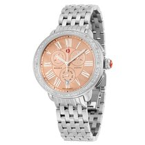 Michele Serein Metallic Rose Gold Mother of Pearl Dial...