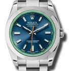 Rolex SS/SS Milgauss Blue