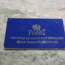 Piaget vintage repair warranty certificate