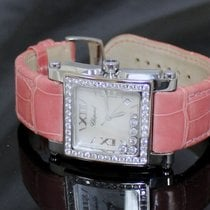Chopard Happy Sport Square Mother of Pearl Dial Large Ladies
