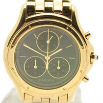 Cartier Cougar 1162 1 Chrono Solid 18k Yellow Gold Lady's...
