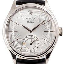 Rolex Cellini Dual Time White Gold 50529