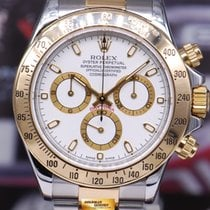 Rolex Oyster Perpetual Daytona Half-gold White Ref : 116523...