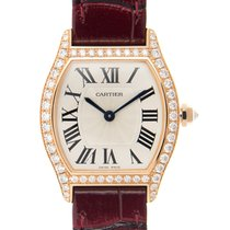 Cartier Tortue 18 K Rose Gold With Diamonds Silver Automatic...