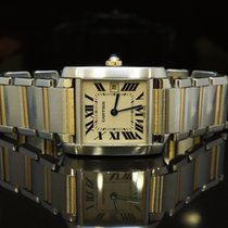 Cartier Mid Size Tank Francaise, Steel & Gold, MINT