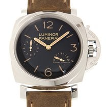 Panerai New  Luminor Stainless Steel Black Manual Wind PAM00423