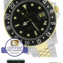 Rolex GMT-Master 16753 Black Jubilee Two-Tone Gold Stainless 40mm