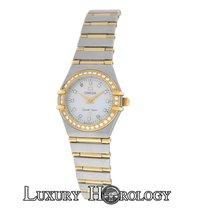Omega Constellation 1267.75.00 Mini MOP Diamond 18K Gold Full Bar