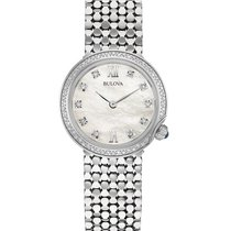 Bulova Ladies 38 Diamond Maiden Lane Dress Watch - Stainless -...
