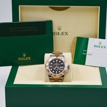 Rolex Yacht-Master Two Tone 18K Rose  Gold  Black  Dial  116621