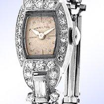 "Hamilton ""Tonneau"" Case Diamond Evening Watch."