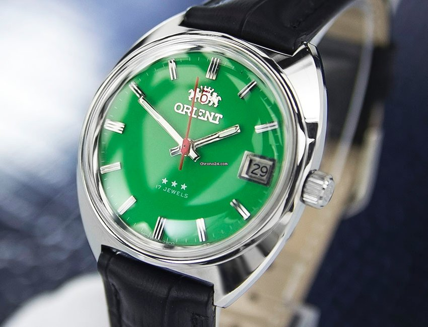 Orient Vintage Manual Wind, Green Dial sold on Chrono24
