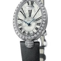 Breguet [NEW] Reine de Naples Mother of Pearl White Gold Diamond