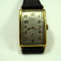 Patek Philippe early rectangle 18k dates 1929 retailed by...