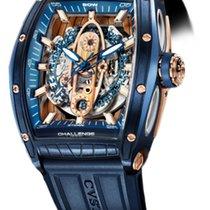 Cvstos Challenge Sealiner Men's Watch, Blue Steel with Red...