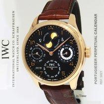 IWC Portuguese Perpetual Calendar 18k Rose Gold Mens Watch...