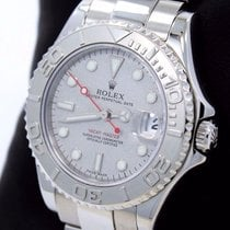 Rolex Yacht Master 168622 35mm Steel Oyster Perpetual Platinum...