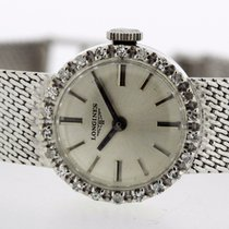Longines Vintage Diamonds 18K White Gold Ladies Watch Cal....