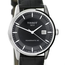 Tissot watch Le Locle Powermatic 80 black dial , leather str