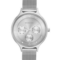 Skagen Womens Anita Day/Date Watch - Steel Mesh Band -...
